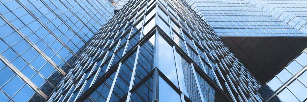 Gebäude aus Glas